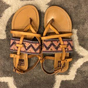 Shoes - Brown cutout sandals